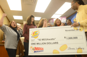 Electricity company syndicate wins US Mega Millions $1 million second prize!