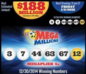 Mega Millions Results 31 December 2014