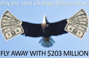 American US Mega Million Top Prize Bald Eagle