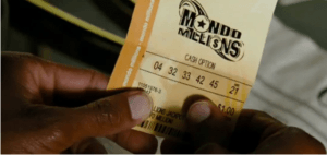 You can't win a Mega jackpot with this Mondo Millions ticket.