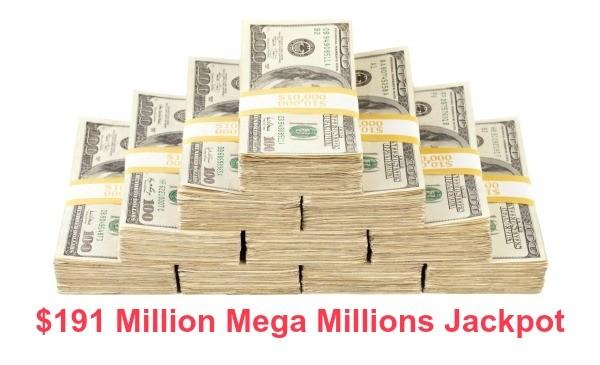 $191 Million Mega Millions Jackpot
