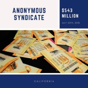 Unnamed California syndicate - $543 Million